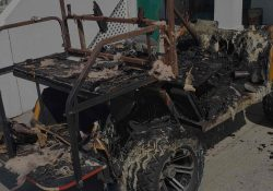 fire loss golf cart